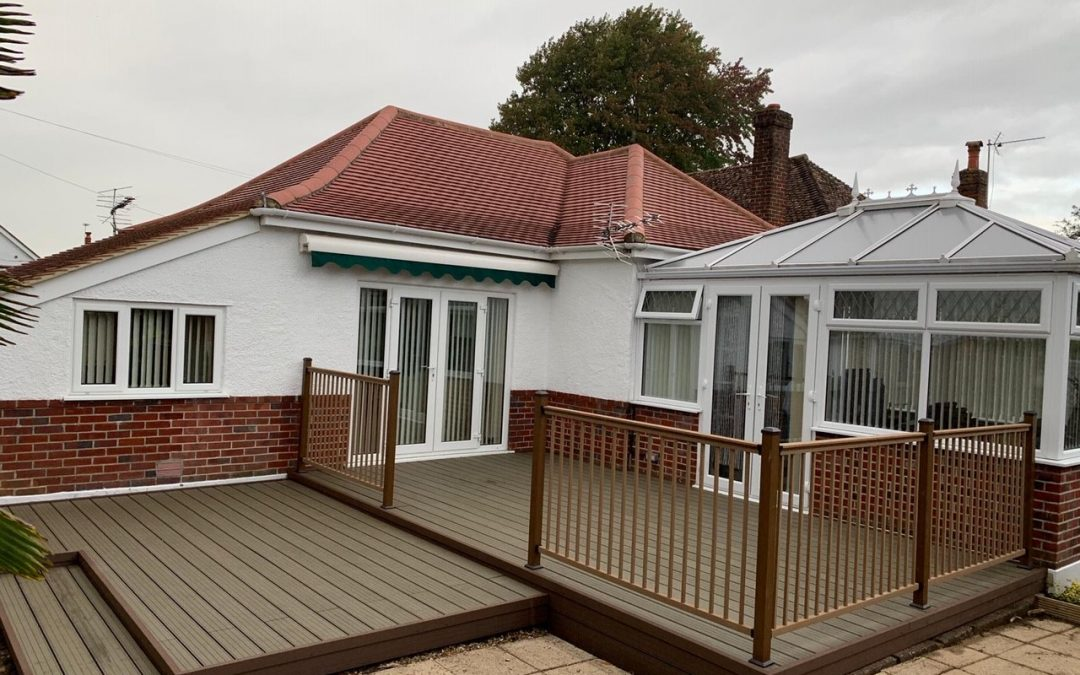 Composite Decking with Balustrade